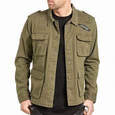 brave soul veste homme l 233 g 232 re militaire kaki avec patchs