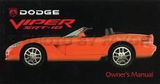 online car repair manuals free 2003 dodge viper electronic toll collection 2003 dodge viper srt 10 owner s manual original