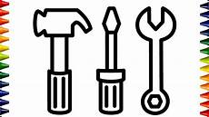 how to draw repair tools coloring pages painting and