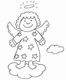 Malvorlagen Christkind Englisch Kostenlose Malvorlage Weihnachten Engel Auf Einer Wolke