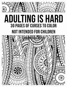 curse word adult coloring book by obscenedesigns on etsy