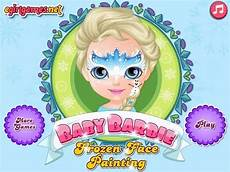 baby barbie frozen face painting games for kids gry dla dzieci youtube