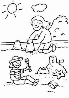 kostenlose malvorlage rund ums spielen kinder bauen eine