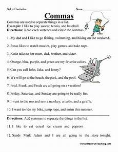 punctuation worksheets for grade 3 with answers 20769 comma worksheet teaching