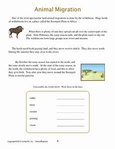 animal migration worksheets 14057 animal migration thematic unit