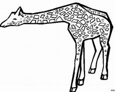 Gratis Malvorlagen Giraffe Giraffe Gefleckt Ausmalbild Malvorlage Tiere