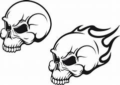 Flaming Skull Tattoo Design Idea  Ideas And