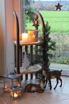 Garten Weihnachtlich Dekorieren - 220 briggebliebene schlitten weihnachten dekoration