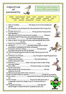 describing s personality worksheets 15903 adjectives of personality worksheet free esl printable worksheets made by teachers