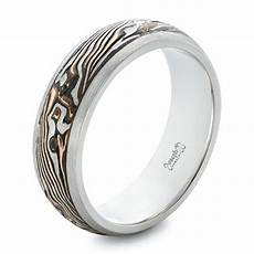 custom palladium and mokume men s wedding band 102360 seattle bellevue joseph jewelry