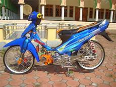 Modifikasi Motor Shogun 110 by 76 Modifikasi Motor Drag Suzuki Shogun 110 Terbaru Gudeg