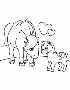Ausmalbilder Pferde Fohlen Ausmalbild Pferd Mit Fohlen Zum Ausdrucken