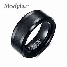 aliexpress com buy modyle 2018 fashion men s tungsten carbide rings 8mm black carbon