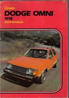 auto repair manual online 1978 dodge omni on board diagnostic system dodge omni shop manual 1978 clymer used