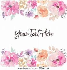 Aquarell Malvorlagen Word Watercolor Flower Vector Background Border Aquarell