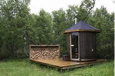 gartensauna selber bauen wood sauna in the the nest way design