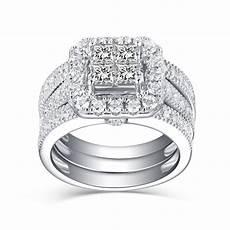tinnivi s princess cut white sapphire 925 sterling