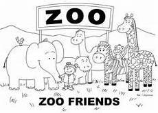 Zootiere Malvorlagen Text Ausmalbild Tiere Im Zoo Tiere Zum Ausmalen Ausmalbilder