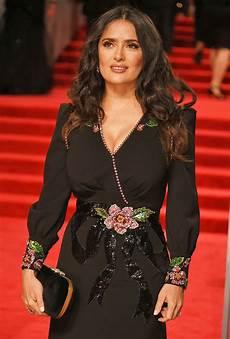 salma hayek 2018 baftas 2018 salma hayek teases cleavage in jaw