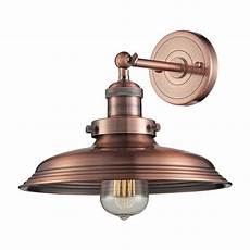 sconce wall light in copper finish 55030 1 destination lighting