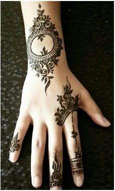 Motif Henna Simple Untuk Pemula Mawar Ku
