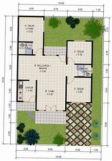Denah Rumah Ukuran 10x15 Dengan 4 Kamar Tidur Terbaru