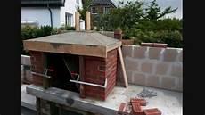 grill überdachung selber bauen gartengrill gemauert masoned barbecue grill