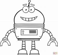 Malvorlagen Roboter Free Smiling Robot Coloring Page Free Printable Coloring Pages
