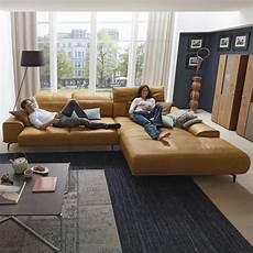 musterring sofa leder musterring leder wohnlandschaft mr 2490 in braun