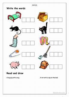 phonics spelling cvc 1 worksheet free esl printable
