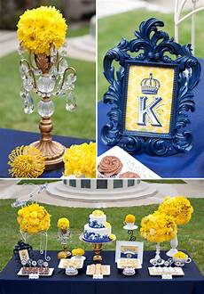royal wedding bridal shower yellow and blue wedding
