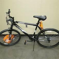 mongoose estate mens mountain bike 26 inch black silver