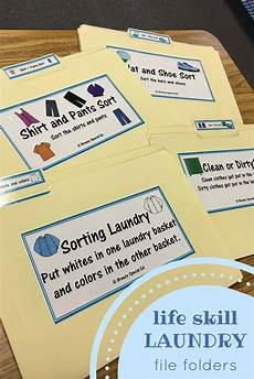 clothing laundry life skill file folders special education special education community