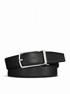 Coach Belt coach grained leather belt in black for lyst