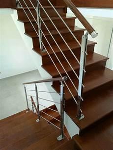 ringhiera scala ringhiera scala interna acciaio inox e legno scuro www