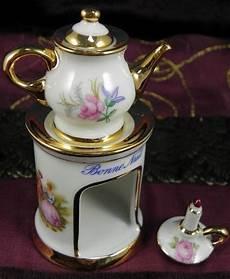 Limoges Porcelain Miniature Veilleuse Set