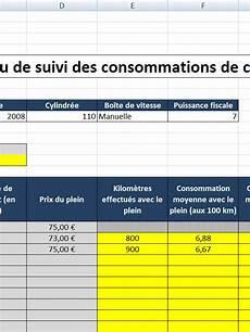 Feuille De Calcul Suivi De Consommation Carburant