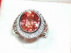 beautiful ring with pink orange padparadscha sapphire gemstone 7 10ct catawiki