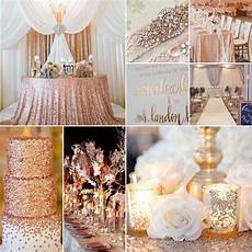 rose gold silver and white wedding gold wedding