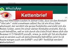 Whatsapp Ute Lehr - kettenbrief archive onlinewarnungen de