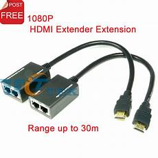 hdmi cat 5 wiring hdmi extender extension 30m 100ft 1080p hdmi to cat5e cat6 cable network hdtv adapter singapore