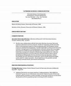 8 librarian resume templates pdf doc free premium