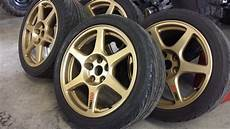 fs northeast stock enkei evo 8 wheels powder coated