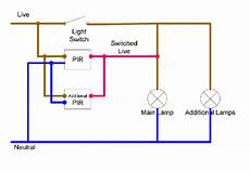 image result for wiring a pir sensor to an outside light lighting diagram light switch wiring