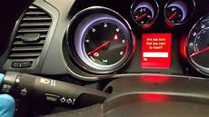 Vauxhall Insignia Service Light Reset