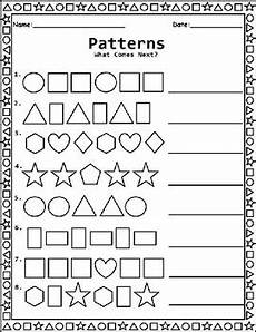 pattern worksheets for preschool pdf 494 shape patterns worksheet for kindergarten 1st grade and 2nd grade