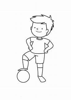 Lustige Ausmalbilder Sport Sport Kleiner Fu 223 Ballspieler Zum Ausmalen Zum Ausmalen