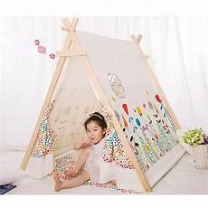 Tipi Fille Ikea Aliexpress Buy Popular 100 Cotton Kid Teepee Tent