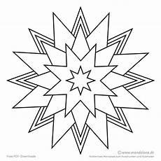 Malvorlagen Einfache Formen Mandala Zum Ausmalen Dea
