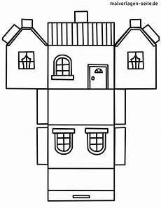 papierhaus bastelbogen vorlage kostenlose ausmalbilder